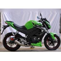 China High Speed Motorcycle Racing Bike Classic Green Color Electric / Kick Start wholesale