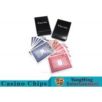 Buy cheap 143g Casino Playing Cards / Waterproof Playing Cards With Black Core Paper from wholesalers