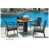 Buy cheap SS table base with wicker dining chair set -8185 from wholesalers