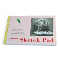 China White Paper Pencil Sketch Pad Drawing Book , Spiral Sketch Drawing Pad wholesale