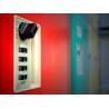 China Factory Keyless ABS Plastic Lockers 5 Tier Red Door Changing Room Lockers wholesale