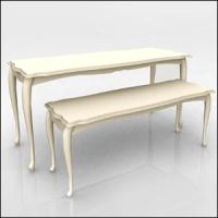 China White Nesting Display Tables Fashion Style1200 * 600 * 800MM  For Clothing Shop wholesale