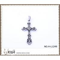 China 316 stainless steel pendant with cross shape H-L1249 wholesale