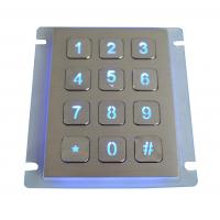 Buy cheap Waterproof SS Backlit Metal Keypad Industrial / 16 Button Keypad For Outdoor from wholesalers