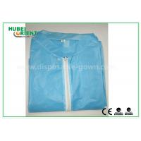 Buy cheap Colored Zip medical lab coats for Workers , lightweight lab protective clothing product