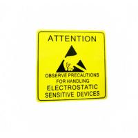 China Self Adhesive Electronic Product Label For Electrical Warning Attention wholesale