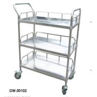 China Medical stainless steel trolley 2ply 3ply Hospital Furniture in emergency rooms wholesale