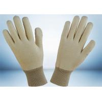 China Natural White 100% Cotton Work Gloves No Fluorescent Brightener Added wholesale