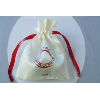 China Small Satin Travel Jewelry Drawstring Pouch Tear Resistant on sale