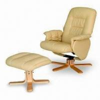China Leisure Massage Chair with Ottoman and Wooden Base wholesale