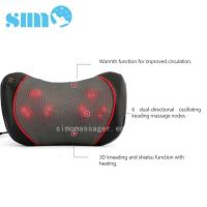 China One Button Control Electric Massage Pillow Homedics 3d Shiatsu Massage Pillow With Heat wholesale