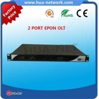 Quality 1U Black Metal Small OLT 2 PON Ports EPON/GEPON OLT with TK3723 at competitive price for sale