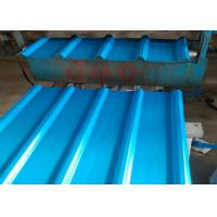 China 0.8mm Thick Color Coated Steel Roofing Sheet Corrosion Resistance Surface wholesale