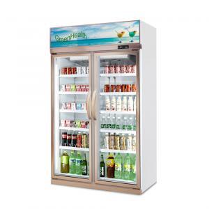 China Beverage Cooler Glass Door Upright Showcase Freezer / Supermarket Refrigerator wholesale