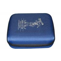 China Custom External Hard Drive Carrying Case / Blue Durable Hard Drive Case EVA Plate wholesale