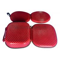 Quality Customized Red EVA Cosmetic Bag Zip Lock , Portable Makeup Case For Travel for sale