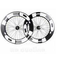 China UD carbon clincher bike 88mm wheels 25mm width, high profile 88 carbon rims wheelset with pwerway R13 on sale