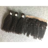 China 13x4 Ear To Ear 8A Peruvian Virgin Kinky Curly Lace Frontal With Natural Black wholesale