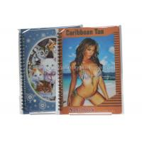 China Sexy Girl Design Notebook 3D Lenticular Printing Service Journals PET / PP / PVC Lentiuclar wholesale