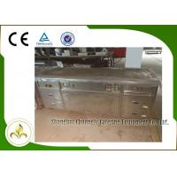 China 2.2m Teppanyaki Grill Table Electric Tube Heaters Fume Down Exhaust Multi Function wholesale