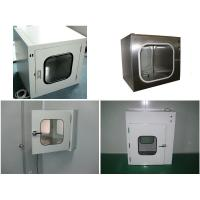 China Clean Room Equipment Precision Stainless Steel Pass Box With UV Light wholesale