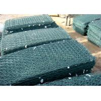 China Hot sale Pvc green colors gabion wire mesh gabion basket for river wholesale