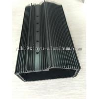 China Semi Bright Black Anodized Aluminium Box Aluminum Structural Framing With Tapping And CNC Drilling on sale