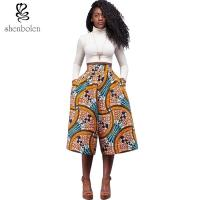 China Wide Leg African Print Baggy Harem Pants , African Print Trousers For Ladies wholesale
