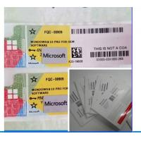 Quality Original Microsoft COA Label Windows 10 Professional OEM Key 100% Activation for sale
