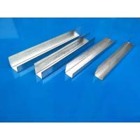 China High Strength Metal Stud U Channel , Drywall Cold Rolled Steel U Channel wholesale