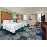 Quality Environmental Friendly Hotel Bedroom Furniture Sets , Wooden Double Bed for sale