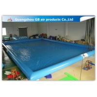 China Blue Inflatable Swimming Pool With Platform , Large Inflatable Pool For Adults wholesale