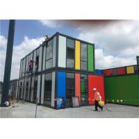 China Two Storey Prefabricated Portable Office Cabin Grade 12 Wind Resistance wholesale