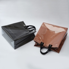 China Personalized Grocery L36*D15*H35 Cm Black PVC Handbags wholesale