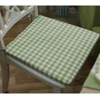 Quality 100% cotton gingham check reversible chair pads for sale