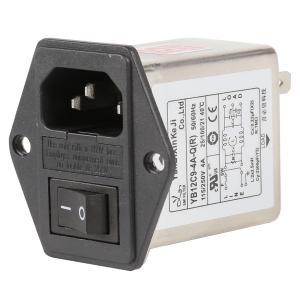 China 115V 250V 3A 6A Single Phase Plug In RFI Filter EMI Noise Filter wholesale