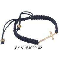China Female elegant and charming 925 sterling silver jewellery, cross cz bracelet at factory price wholesale