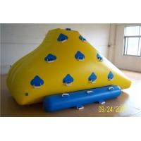 China Funny Floating Inflatable Water Games , Inflatable Rock Climbing Wall For Water Leak Proof wholesale