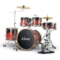China Pro - level Cherry Red Lacquered Birch Wood 5 Piece Adult Drum Set ISO9001:2008 wholesale