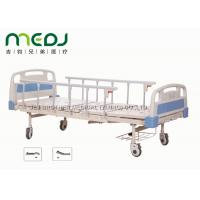 China ABS Board Manual Hospital Bed , MJSD05-01 2 Cranks Medical Adjustable Bed wholesale