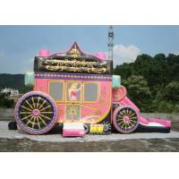 China Princess Carriage Inflatable Bouncy Castles With Lead Free PVC Tarpaulin Material wholesale