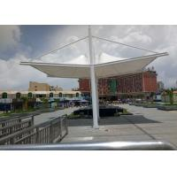 Buy cheap PVDF Sail Fabric Shade Structures Light Steel Tube Support Tension Buildings from wholesalers