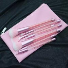 China Diamond Makeup Powder Brush Portable Synthetic Hair Material Spot Crystal Handle wholesale