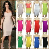 China Wholesale High Quality Strapless New Design Hot Sale Popular Sexy Bandage Dress wholesale