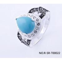 China fashion silver ring with marcasite wholesale