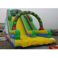China Durable Cartoon Printing Inflatable Bouncer Slide With Climbing Steps 0.55mm Pvc wholesale