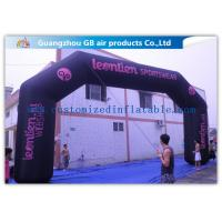 China Durable Black Inflatable Arch , 26 Feet Inflatable Entrance Arch For Advertising wholesale