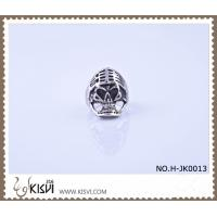 China High quality guarantee 316l stainless steel skull ring H-JK0013 customed logo is available wholesale
