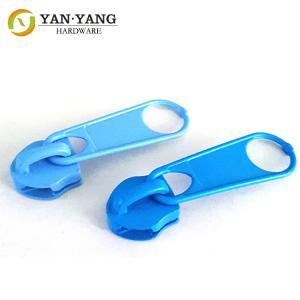 China No. 5 blue color plastic zipper puller Nylon zipper durable quality decorative wholesale