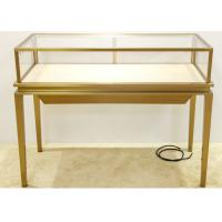 China Luxury Jewelry Display Cases Stainless Steel Tempered Glass Material wholesale